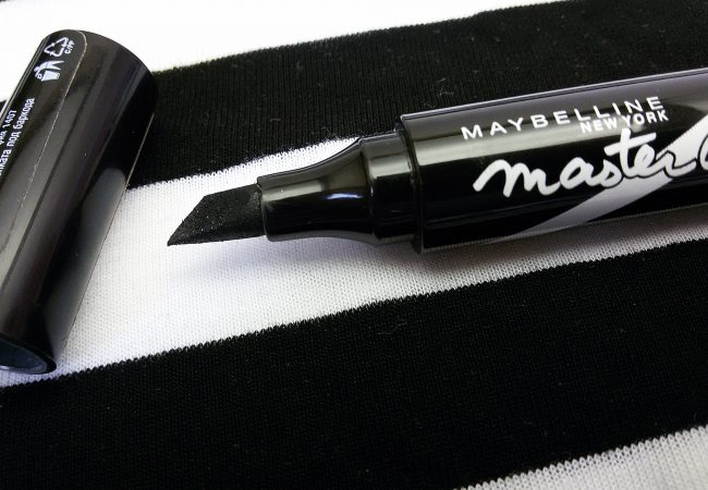 Black character. Eyeliner Master Graphic from Maybelline